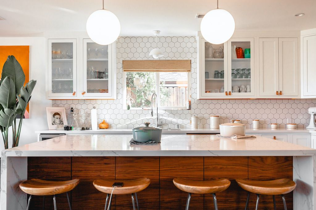 Minimal kitchen interior styled for property sale