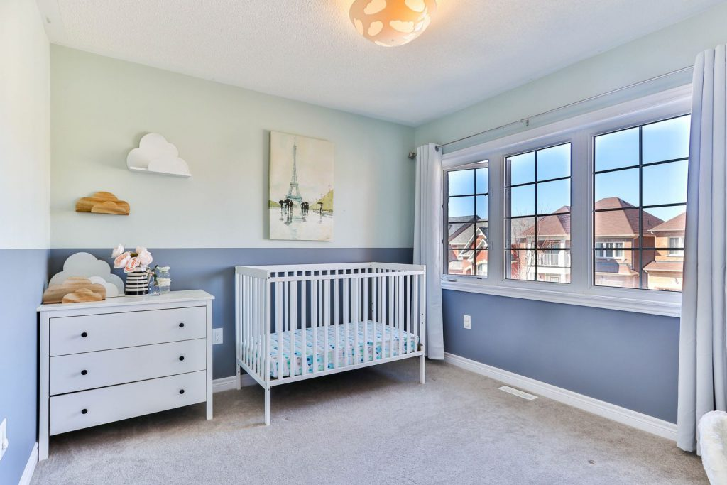 Young family nursery, styled for a open house