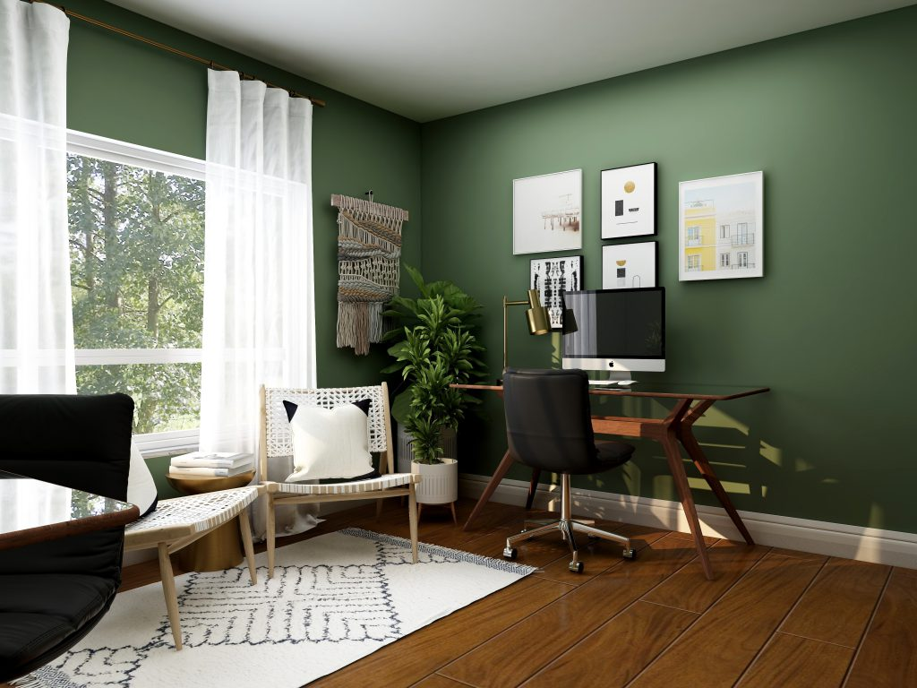 Minimally styled at-home office set-up for working from home