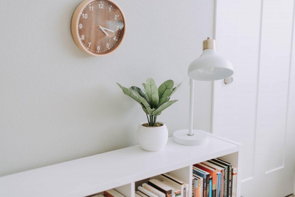 Clutterless, minimalist styled shelving